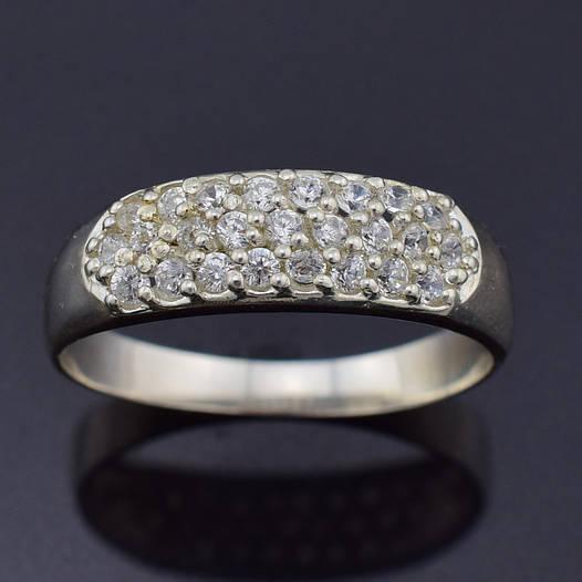 "Серебряное кольцо ""Агата"", размер 18, вес серебра 2.25 г"