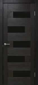 Домино ПО двери межкомнатные влагостойкие ПВХ с черным стеклом