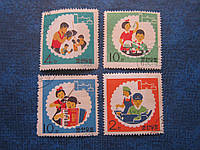 4 марки Корея 1965 детство