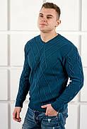 Мужской теплый свитер Василий / размерный ряд 48,50 / цвет бирюза, фото 3