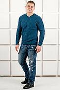 Мужской теплый свитер Василий / размерный ряд 48,50 / цвет бирюза, фото 4