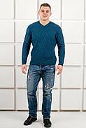 Мужской теплый свитер Василий / размерный ряд 48,50 / цвет бирюза, фото 5