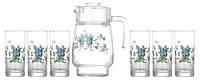Cybele Набор для воды (кувшин 1,6л+ стакани 270мл-6шт) 7 предметов стекло Arcopal