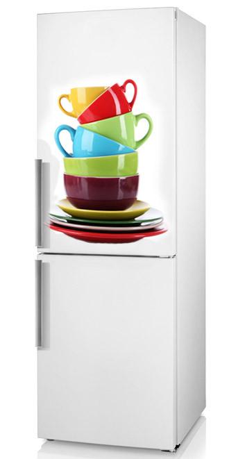 """Наклейка на холодильник на кухню """"Сервіз"""""""