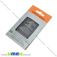 Набор швейных и штопальных иголок, 50 шт микс, 1 набор (SEW-013909)