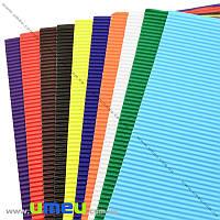 Гофрированная бумага TIKI, А4, 10 цветов, 10 листов, 1 набор (DIF-023816)