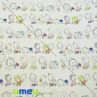 Упаковочная бумага Пупсики, Белая, 70х100 см, 1 лист (UPK-023514)