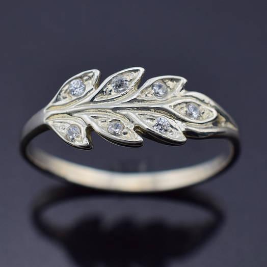 """Серебряное кольцо """"Колосок"""", размер 17, вес серебра 1.78 г"""