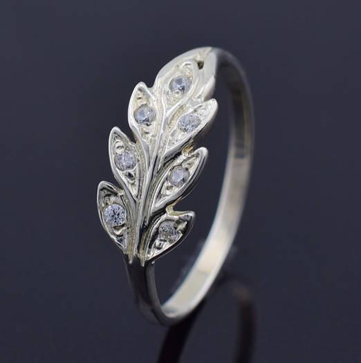 """Серебряное кольцо """"Колосок"""", размер 19, вес серебра 1.83 г"""