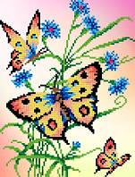 """Схема для вышивки """"Бабочки и васильки"""""""