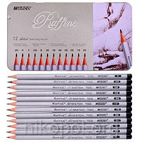 """Набор простых карандашей MARCO Raffine 7000M-12TN """"2H-8B"""", твердые-мягкие"""