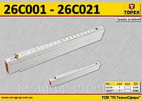 Метр пластиковый складной, 2 м., белый,  TOPEX  26C021, фото 1