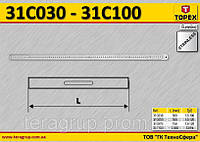 Линейка нержавеющая сталь, L-1000мм.,  TOPEX  31C100