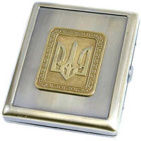 Портсигар металлический с гербом Украины AM-002 SKU0000912