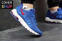 Мужские кроссовки Nike Air Max, синие, материал - плотная сетка, подошва - пенка