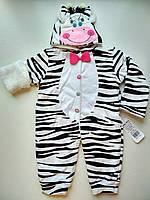 Комбинезон на махре для девочки Zebra