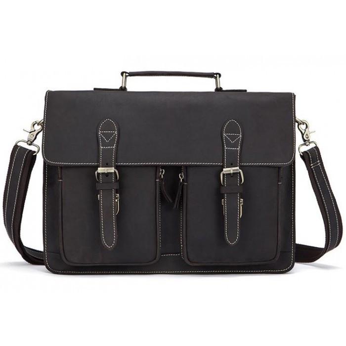 Кожаный портфель Bexhill Bx1061 коричневый