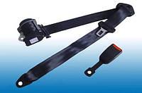 Автомобильный трехточечный ремень безопасности на автомобильное сидение (инерционный, сертифицированный, черны