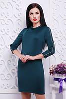 Платье с горловиной сзади и на рукавах молнии   ( 4 цвета )