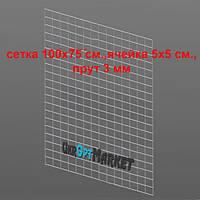 """Сетка 100х75 см.  5х5 см, Прут-3.0 мм """"Torg"""" ZZ-0050"""