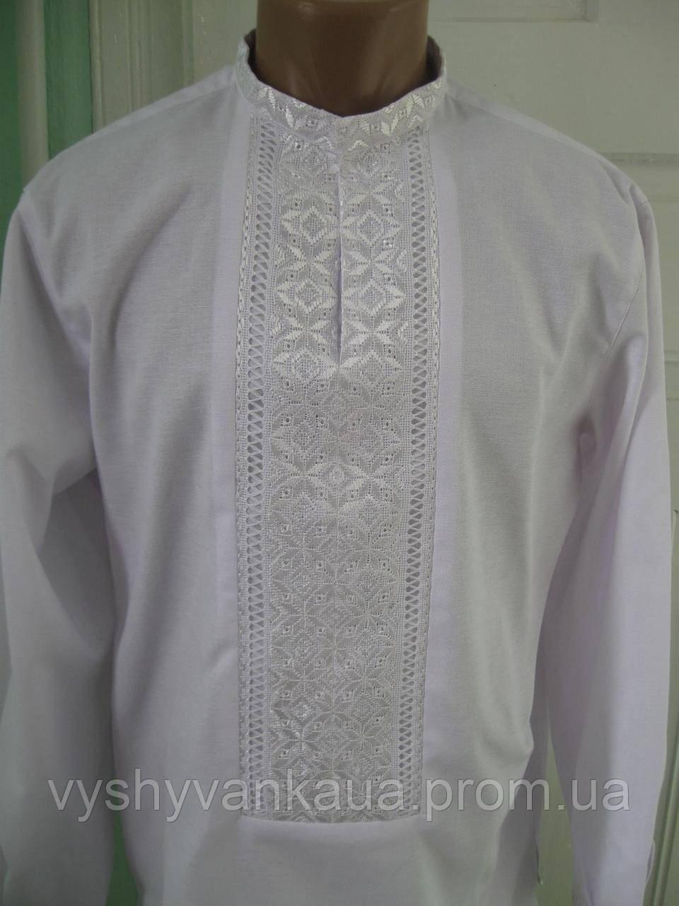Чоловіча вишита сорочка біла 3d84345770be4