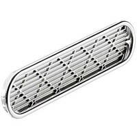 Вентиляционная решетка овальная, хром полированный
