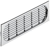 Вентиляционная решетка пластиковая, хром полированный