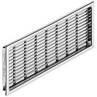 Вентиляционная решетка прямоугольная, хром полированный