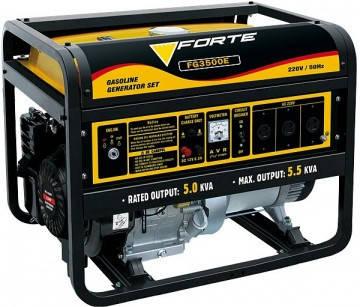Бензиновый генератор Forte FG 3500, фото 2