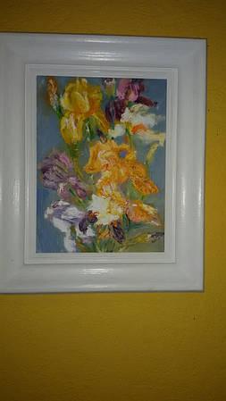 """Картина """"Ирисы"""" 13*20 см"""