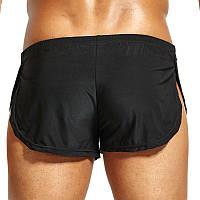 Мужские шорты мини для дома Split Short Black лот 534