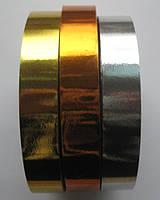 Лента подарочная металлик ширина  20 мм. вся катушка 45 м, фото 1