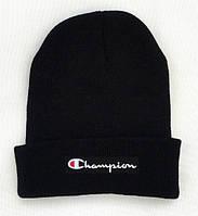 ✔️ Чёрная шапка Champion