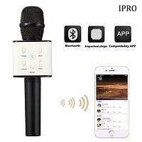 Беспроводной микрофон караоке bluetooth 2 динамика USB Q7