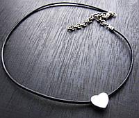 Чокер кулон сердце серебро 925, фото 1