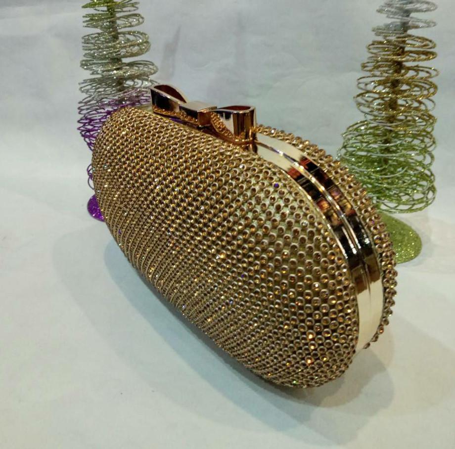 fe8a62058fbd Женская сумочка-клатч в стразах (золотая) №3549, цена 890 грн ...