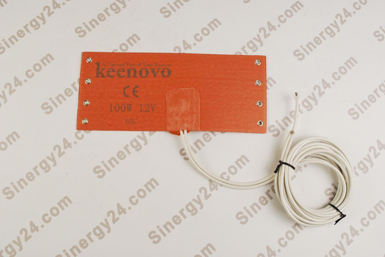 Подогреватель топливного фильтра бандажный, 100Вт, 12В, (100х235мм), терморегулятор 65 градусов