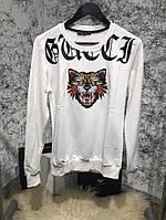 Свитшот Sweatshirt Gucci Angry Cat White