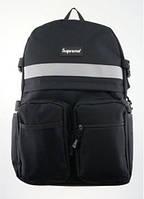 Черный рюкзак Supreme Reflective