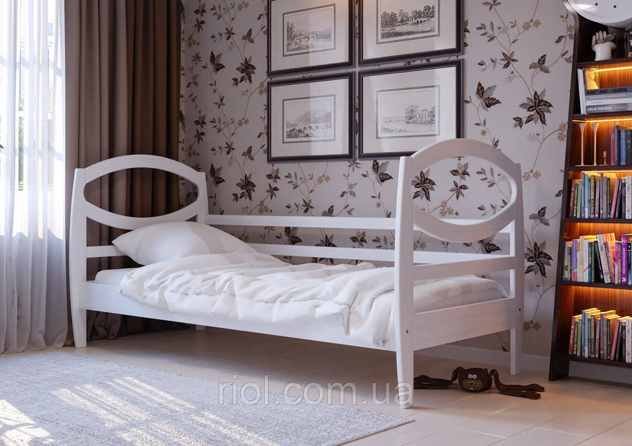 Кровать из натурального дерева Наутилус