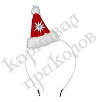 Шляпка на ободке Санта флис