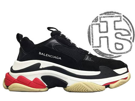 Мужские кроссовки Balenciaga Triple S Trainers Black/White/Red 490672W06E11000, фото 2