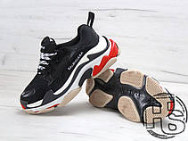 Мужские кроссовки Balenciaga Triple S Trainers Black/White/Red 490672W06E11000, фото 3