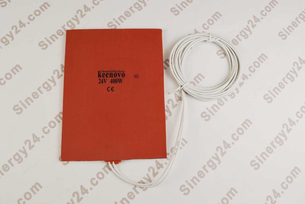 Гибкая нагревающая пластина 400Вт, 24 В (152х203х7мм), терморегулятор 90градусов