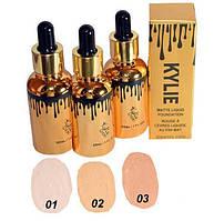 Тональный крем для лица Kylie Matte Liquid с пипеткой Код:620052787