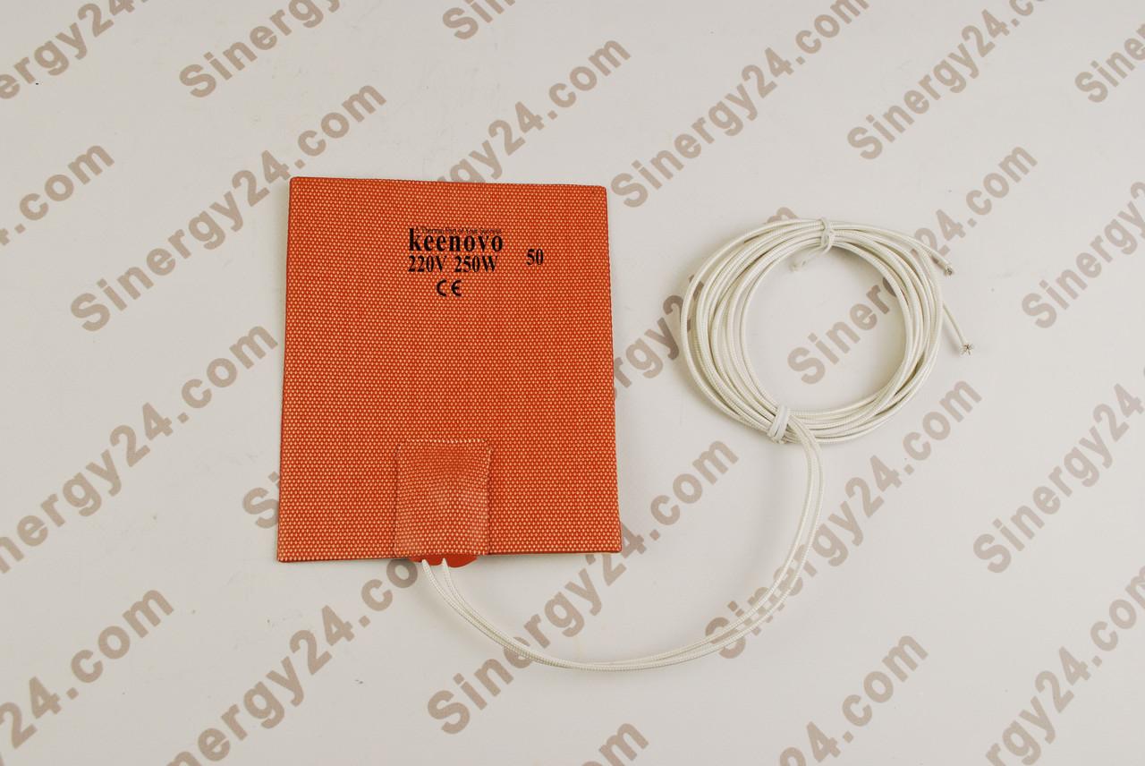 Гибкая нагревающая пластина 250Вт, 220В, (127х152мм), терморегулятор 50 градусов