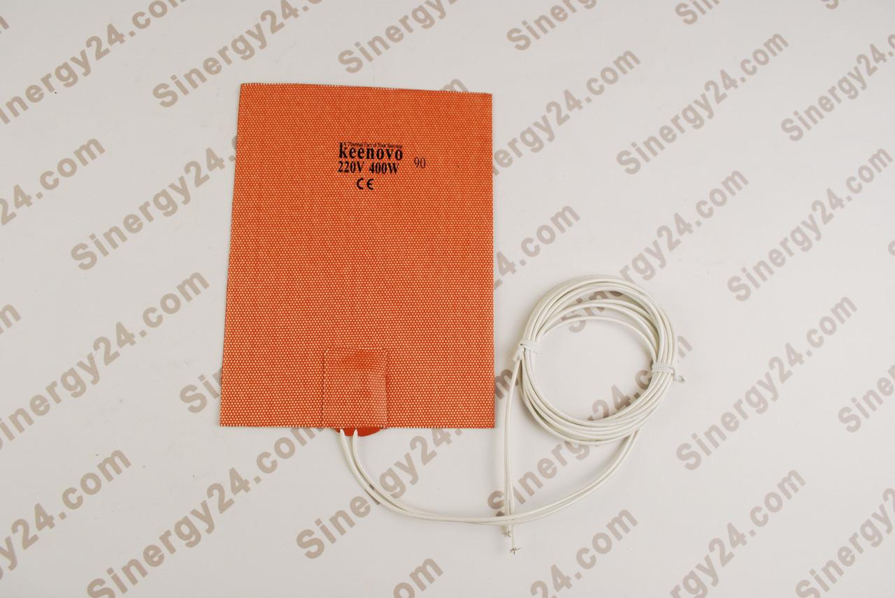Гибкая нагревающая пластина 400Вт, 220 В (152х203мм), терморегулятор 90градусов