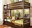 Кровать деревянная Дуэт детская двухъярусная, фото 5