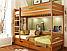 Кровать деревянная Дуэт детская двухъярусная, фото 4