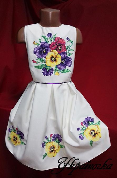 Платье вышитое для девочки №002
